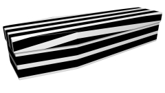 3719 - Black and white pinstripe