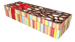 3820 - Chocolate box 1 square casket