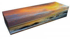 3822 - Seaside sunset square casket