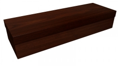 3823 - Dark woodgrain square casket