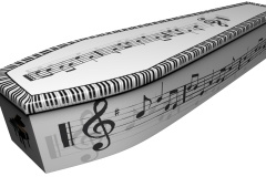 Piano keyboard and music