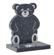 Blue Pearl Granite teddy memorial