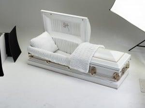 casket at benedict undertakers